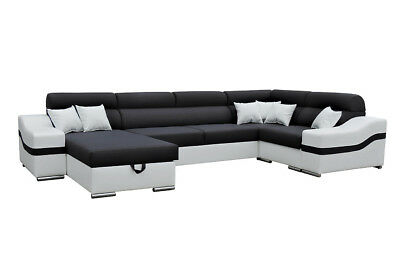 wohnlandschaft ecksofa pm barc05 mobiliar schlaffunktion u. Black Bedroom Furniture Sets. Home Design Ideas