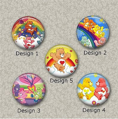 5 x 25mm Care Bears Resin Or Glass Cabochons for Jewellery Making
