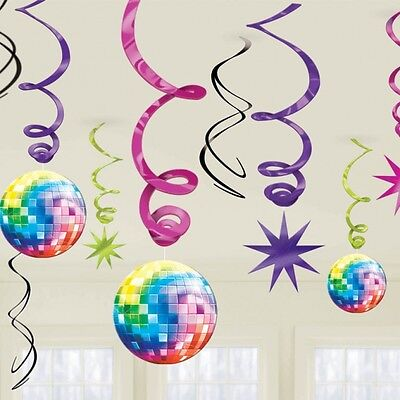 70S Disco Fever Lets Boogie Swirl Decorations
