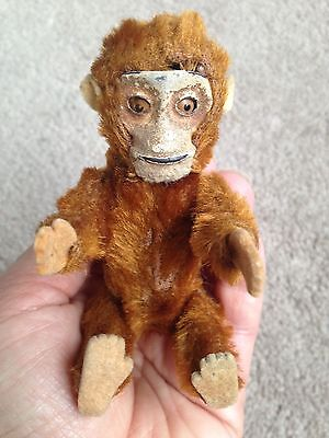 "RARE 1920's Schuco Miniature 5"" Fully Jointed Mohair Perfume Bottle MONKEY NICE"