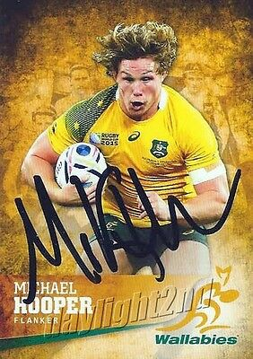 ✺Signed✺ 2016 WALLABIES Card MICHAEL HOOPER