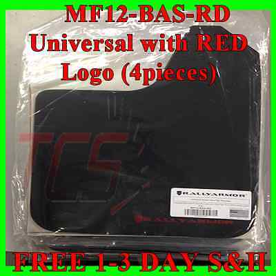 Rally Armor Universal Fitment Mud Flaps Set (No Mounting Hardware) W/ Red Logo
