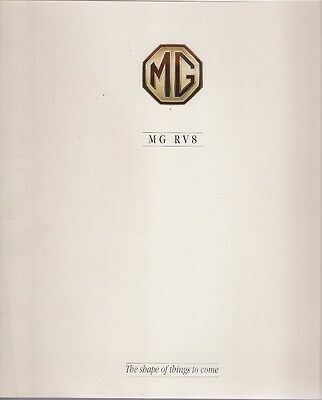 MG MGR V8 1992-93 UK Market Launch Foldout Sales Brochure