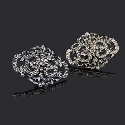 Crystal Removable Bridal Shoe Buckle Vintage Rhinestone Shoe Clip Sandal 1 Pc