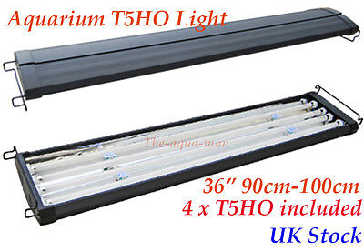 "T5 Aquarium 36"" saltwaterFish Tank Overhead Lighting FOUR Tubes 90cm 100cm"