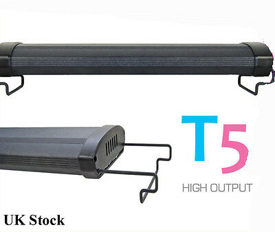 "T5 Aquarium 24"" Fish Tank Overhead Lighting Two Tube System 60cm"