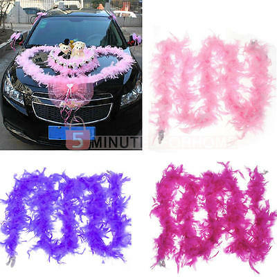 2M Pink Feather Boa Fluffy Party Decoration Fancy Costume Dress Up PropHot