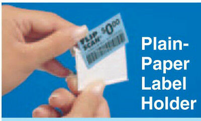 "FSLH#30-0051 Flip Scan Plain Paper Label Holders Sz: 1-1/4"" x 2"" Pack of (100)"