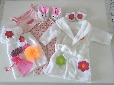 """NEW-Doll Clothes-PJs/Slippers/BATH Set - Lot #168 fit 18"""" Dolls such as AG Dolls"""