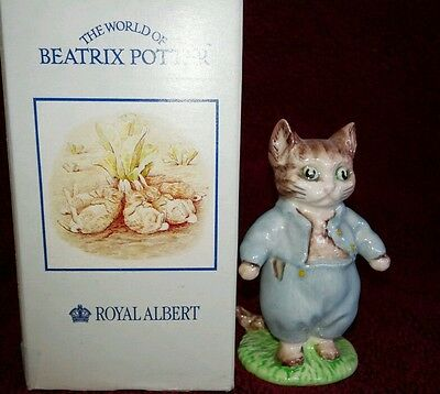 RARE -ROYAL ALBERT-Tom Kitten THE WORLD OF BEATRIX POTTER PORCELAIN FIGURINES
