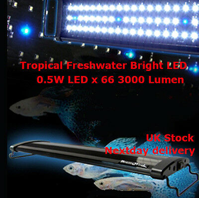 Aquarium Fish Tank Over-Head Lamp LED Bright Light White+Blue 90cm 35W