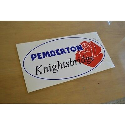 PEMBERTON Knightsbridge - (OVAL) - Static Caravan Sticker Decal Graphic - SINGLE