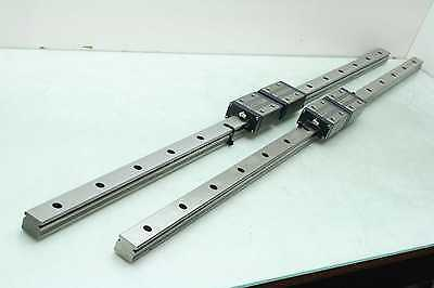 2 IKO 1200mm Linear Motion Guide Rails with (4) LWES30SL Square Blocks