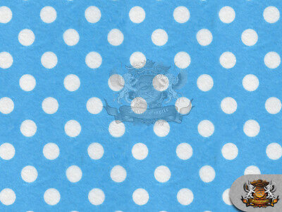 """Sold by the yard 58/"""" Wide Minky Minnie Polka Dots WHITE ROYAL BLUE Fabric"""