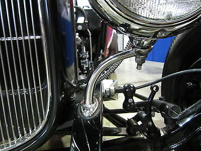 Headlight Stand Ford Roadsters 682C Guides Hot Rod Rat Rod Stainless Stands