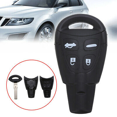 New 4 Button Remote Key Fob Shell Case+Key Blank for SAAB 9-3 93 2003-2009