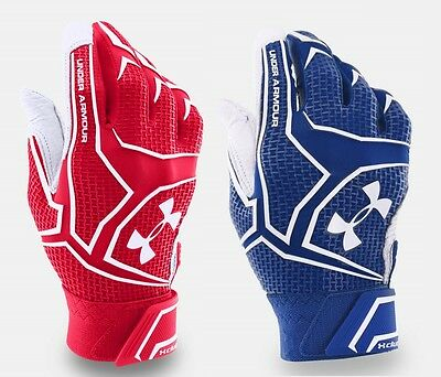 Under Armour Men's UA Yard Clutch Batting Gloves (Red or Blue) NWT
