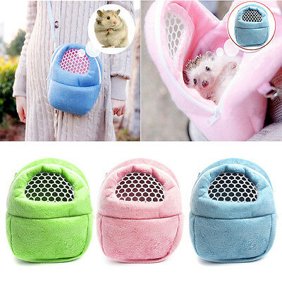 Sugar Glider Rat Hedgehog Hamsters Carrier Bag Sleeping Bag Pink Blue Green