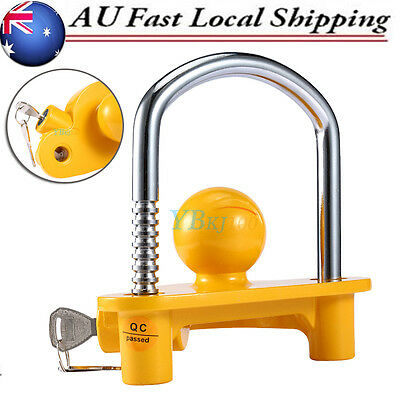 2 KEYS Trailer Parts Coupling Lock Universal Hitch Towball Caravan Anti Theft AU