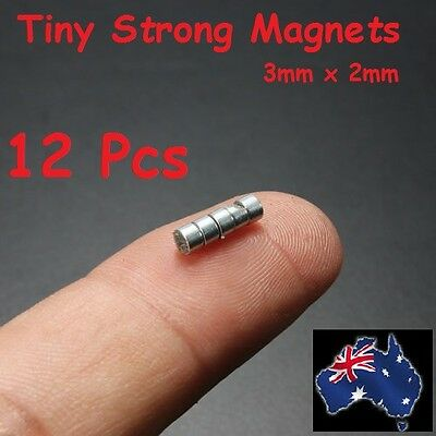 12 Pcs Strong TinyDisc Round Rare Earth Neodymium 3 x 2mm Fridge Magnets Power