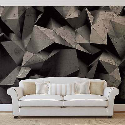 Modern Abstract Black White Geometric WALL MURAL PHOTO WALLPAPER (3062DK)