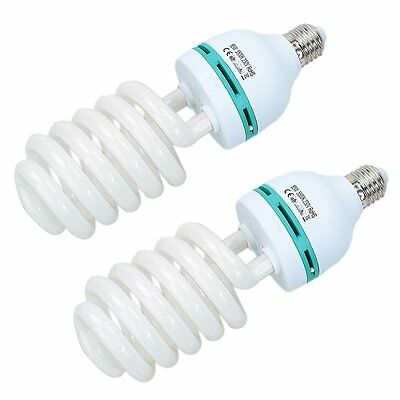 2X 85W 220V E27 Photo Studio Continuous Light Bulb Energy Saving Daylight Bulb