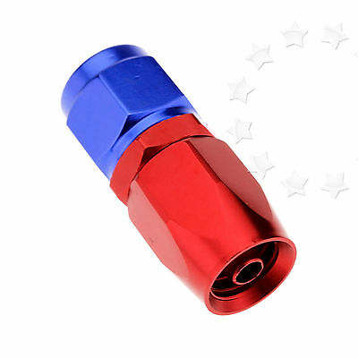 AN4 0° Flow Fuel Oil Hose Fitting Straight Fast Swivel Seal New