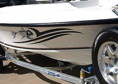 Fish Boat Stripes Decals Port & Starboard Pair 15 Colors