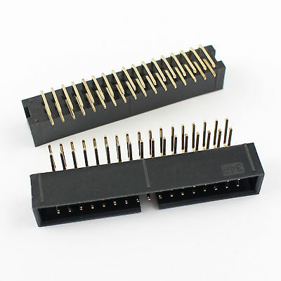 20Pcs 2.54mm 2x17 Pin 34 Pin Right Angle Male Shrouded IDC Box Header Connector