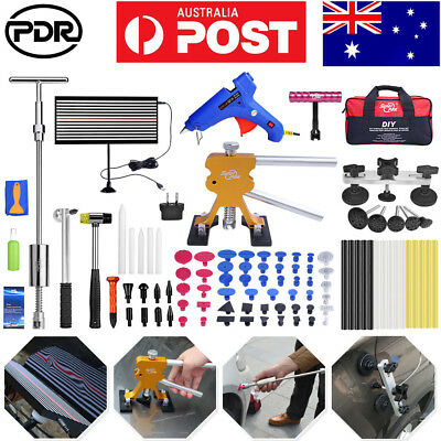 91× PDR Tools Dent Puller Lifter LED Line Board Repair Hammer Paintless Removal