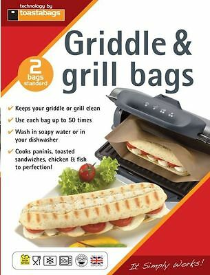 2 X Toastabags  Reusable Griddle & Grill Panini Toasted Toaster Sandwich Bags