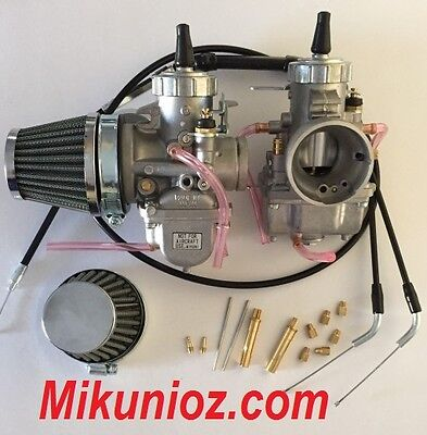 Honda CB 350, 400, 450 32mm VM32 Mikuni Round Slide Carburetor Conversion Kit