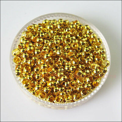 New Charms Gold Plated Copper Round Crimp Beads 2mm 2.5mm 3mm