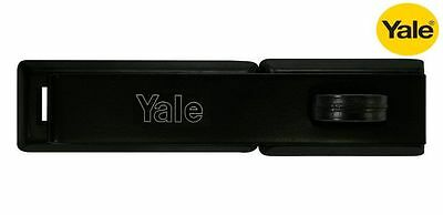 YALE HEAVY DUTY HIGH SECURITY HASP - STEEL - BLACK FINISH 190mm - NEW