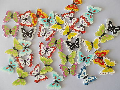 8 New Random Mixed Cute Butterfly Shaped Wooden Fridge Magnets