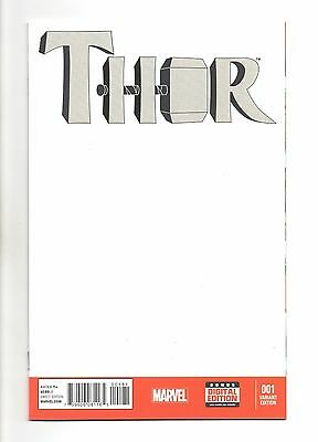 Thor Vol 4 No 1 Dec 2014 (NM)Marvel,1st Female Thor, Blank Variant CVR,1st Print