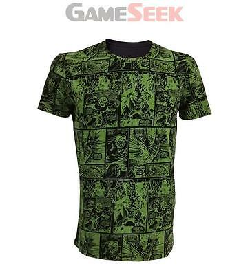 Marvel Incredible Hulk Male Comic Strip T-Shirt (L)