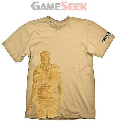T-Shirt Uncharted 4 Nathan Map Xxl
