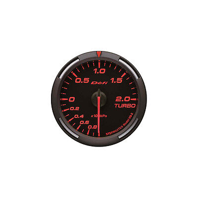 Defi 60Mm Racer Turbo Boost Gauge Red