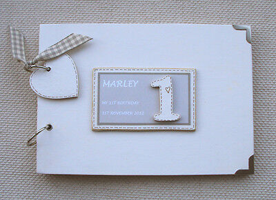 Personalised 1St Birthday .a5 Size  Photo Album/scrapbook/memory Book
