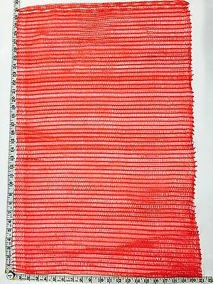 """25 Red, Reusable, Plastic Mesh, Produce Bags,21"""" X 31"""" W/ Draw String"""