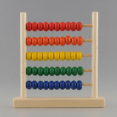 5-Row Classic Wooden Abacus Child Educationnal Calculate Count Numbers Teaching