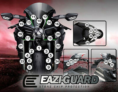 Eazi-Guard™ Kawasaki Ninja H2 2015-2016 Motorbike Stone Chip Protection Kit