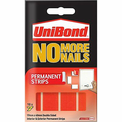 Unibond No More Nails PERMANENT Strips Red Tape For Indoor & Outdoor Use
