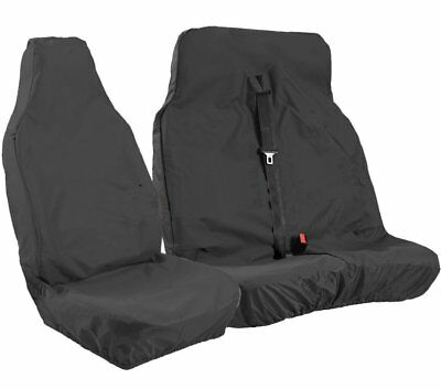 Mercedes Sprinter 2016 Onwards Heavy Duty Waterproof Black Van Seat Covers 2+1