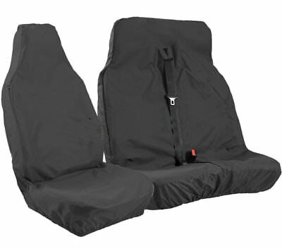 Vauxhall Vivaro 2016 Heavy Duty Waterproof Black Van Seat Covers 2+1