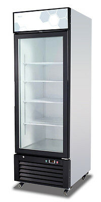 Migali C-23RM Commercial Single Glass Door Merchandiser Refrigerator