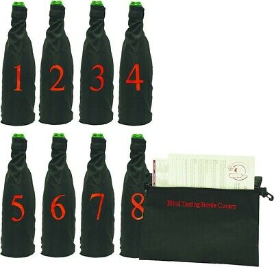 Franmara Professional Model Blind Wine Tasting Kit with 8 Numbered Pouches Set