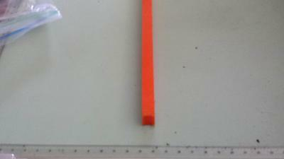 "1/2"" x 1/2"" X 48""  URETHANE / POLYURETHANE 80 A ORANGE BAR P/N 11579"