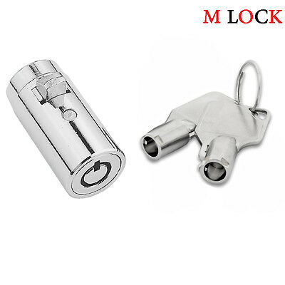 New Universal Plug Lock for Soda Snack Vending Machine Replacement Lock 2 Keys